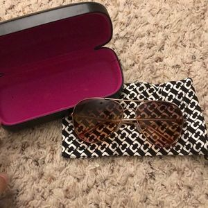DVF aviator sunglasses